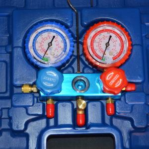 Tvåvägs manometerställ R-410a